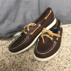 Sperry Brown Leather Boat Shoe